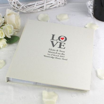 Personalised LOVE Photo Album With Sleeves
